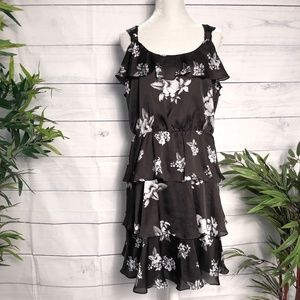 White House Black Market Layered Ruffle Dress - 14